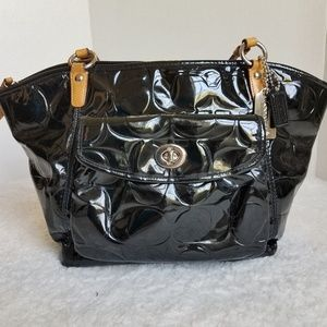 Coach Embossed Patent Leather Leah 14663